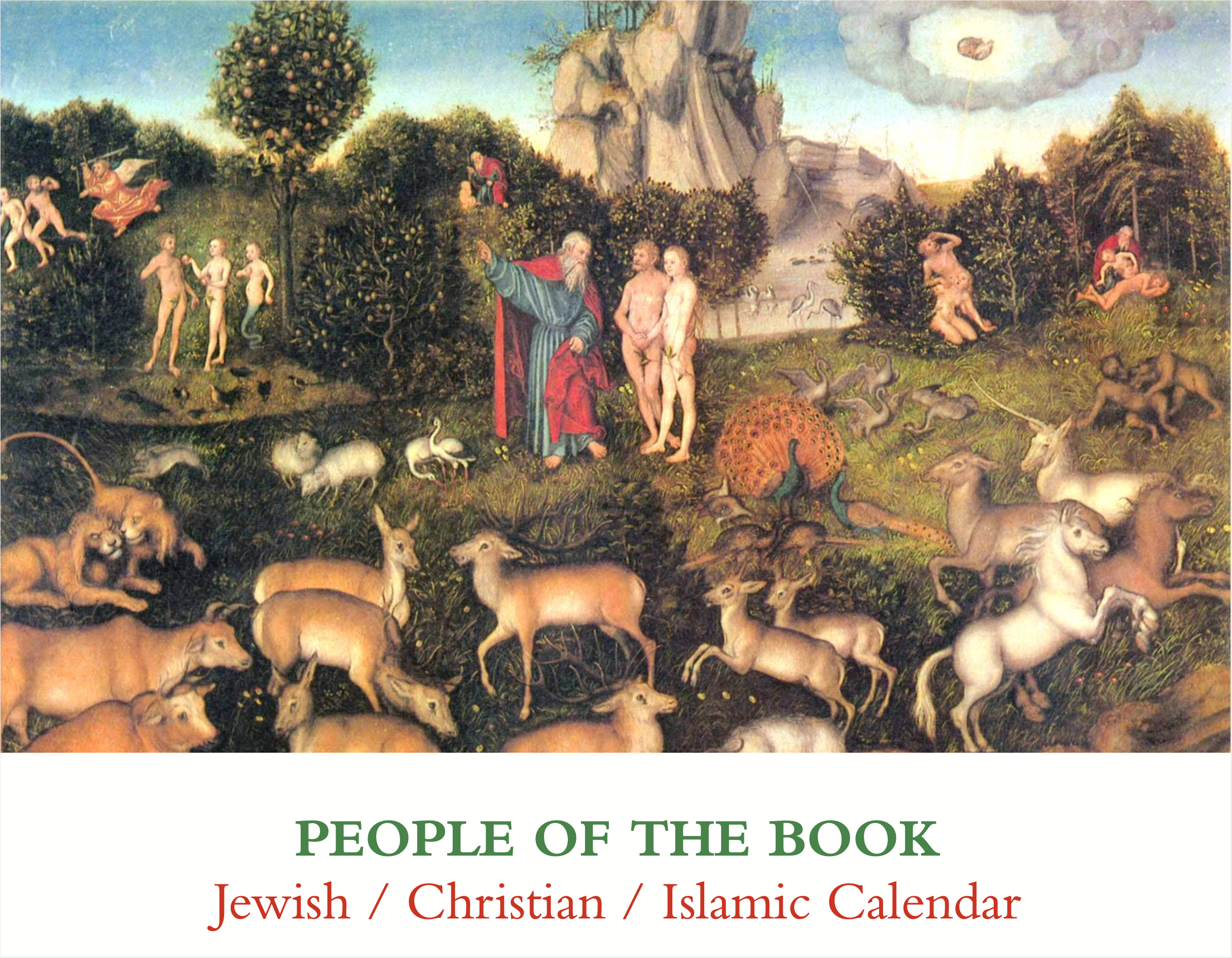 1st People of the Book Wall Calendar Cover 2010